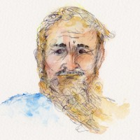 bearded man 001