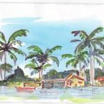 "Belize - Hopkins village near restaurant ""Beaches and Dreams"""