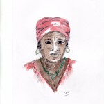 Garifuna woman, Hopkins, Belize