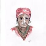 Garifuna woman, Hopkins, Belize