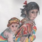 Guatamala, child with a child