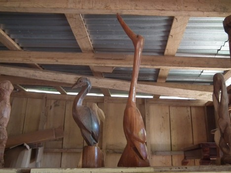 belize wood carving