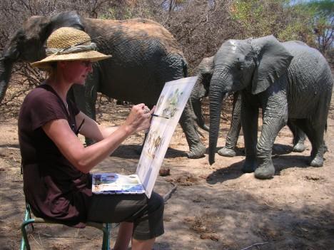 karen, wildlife artist