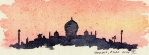 taj mahal sunset 001