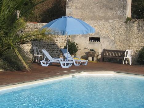 corner of pool